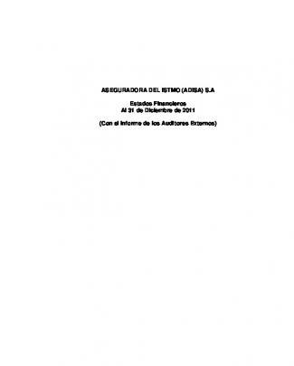 Estados Financieros Auditados Diciembre 2011