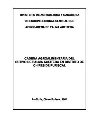 Palma Aceitera - Ministerio De Agricultura Y Ganadería