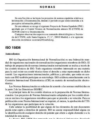 Iso 15836 - Revista Española De Documentación Científica