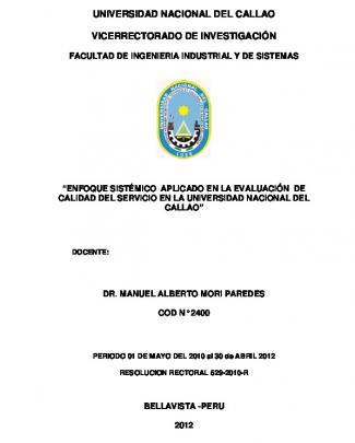Universidad Nacional Del Callao Vicerrectorado De Investigación