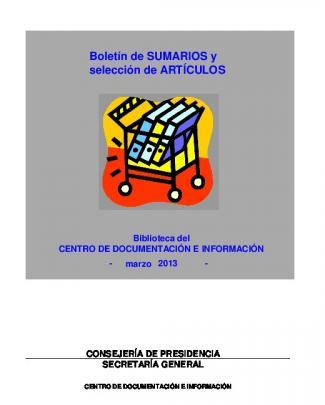 Boletín De Sumarios Y Selección De Artículos
