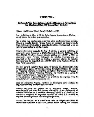 """Primer Panel Conferencia """"los Retos De Las Academias Militares"""
