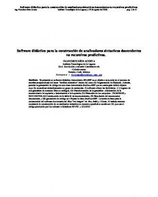Software Didáctico Para La Construcción De
