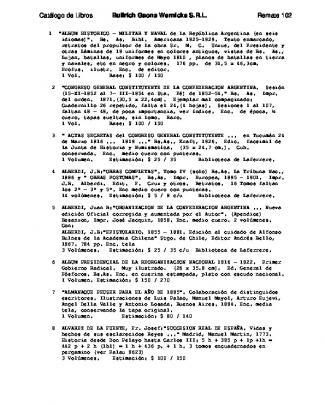 Catálogo De Lotes En Subasta - Bullrich, Gaona, Wernicke Srl