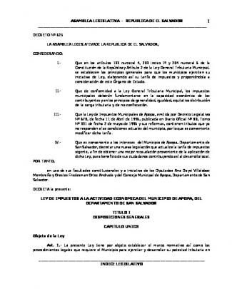 Decreto N° 625 - Asamblea Legislativa