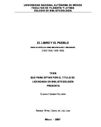 El Libro Y El Pueblo - E