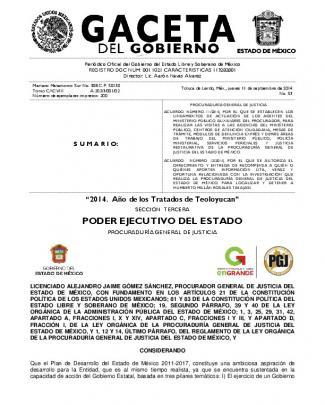 Acuerdo Número 11/2014, Por El Que Se Establecen Los