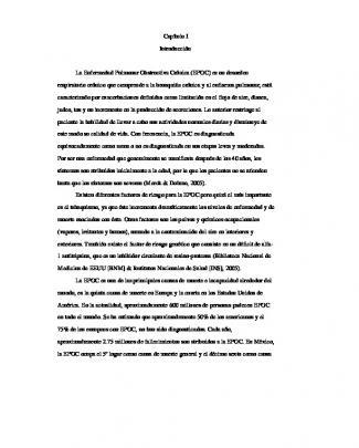 Capítulo I Introducción La Enfermedad Pulmonar Obstructiva Crónica