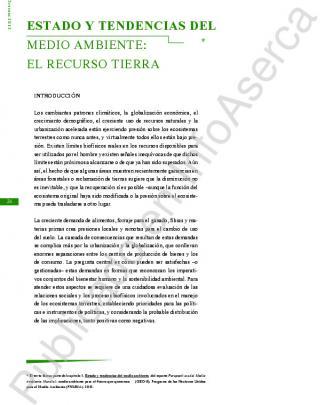 Estado Y Tendencia Del Medio Ambiente: El Recurso Tierra