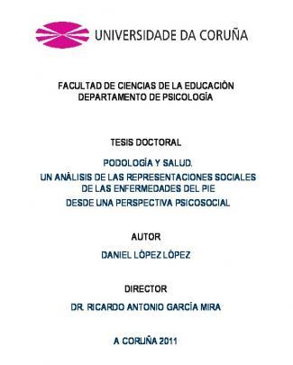Podología Y Saludtesis Final_7sept - Ruc