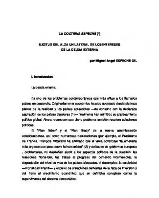 La Doctrina Espeche. Ilicitud Del Alza Unilateral De Los Intereses De