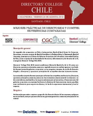 Directors´ College Chile 2012 - Facultad De Derecho