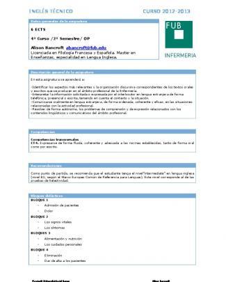 Inglés Técnico - Fundació Universitària Del Bages