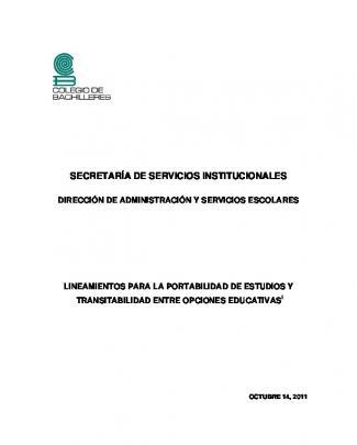 Lineamientos De Portabilidad Y Transitabilidad