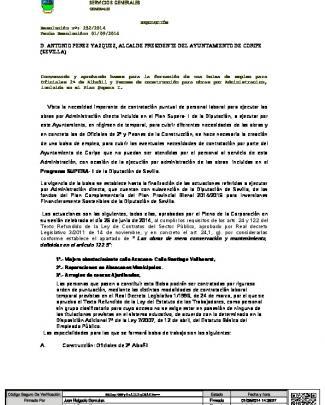 Bases Bolsa De Empleo Oficiales De 2ª De Albañil Y Peones De La