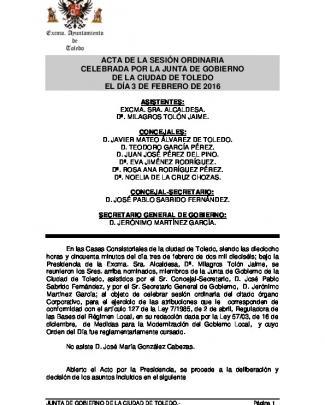 03-02-2016 - Ayuntamiento De Toledo