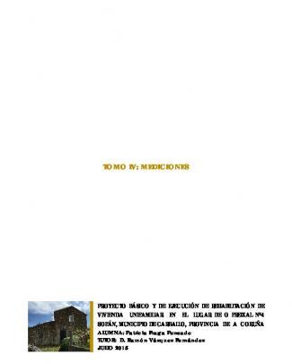 Proyecto Básico Y De Ejecución De Rehabilitación De Vivienda