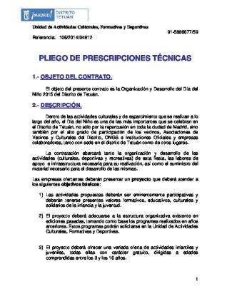 Pliego De Prescripciones Técnicas