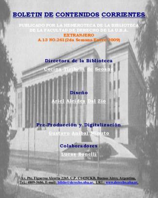 Alerta Bibliografico - Facultad De Derecho