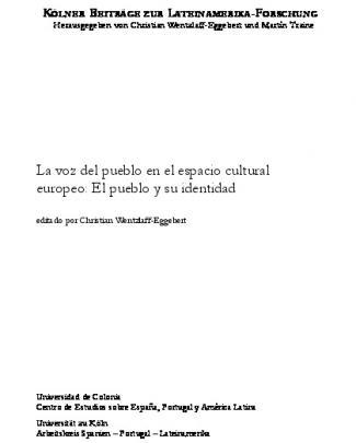 La Voz Del Pueblo En El Espacio Cultural Europeo: El Pueblo Y Su