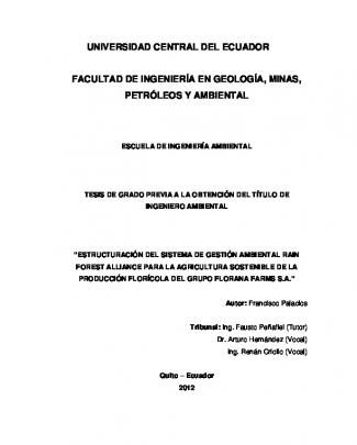 Universidad Central Del Ecuador Facultad De