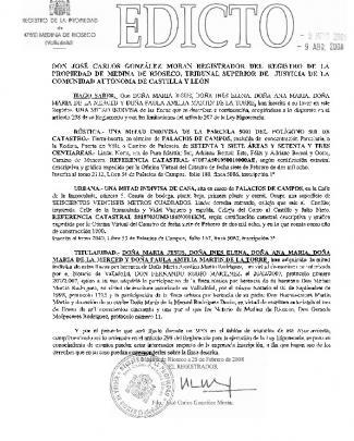 Don José Carlos González Moran Registrador Del Registro De La