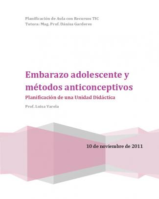 Embarazo Adolescente Y Métodos Anticonceptivos