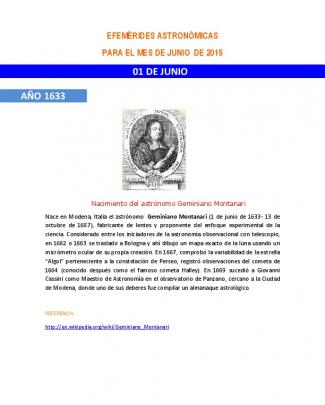 01 De Junio Año 1633