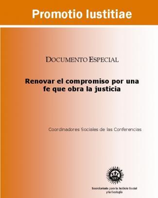 Promotio Iustitiae: Renovar El Compromiso Por Una Fe