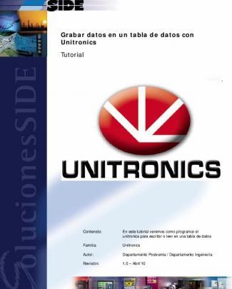 Grabar Datos En Un Tabla De Datos Con Unitronics Tutorial