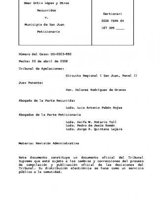 2006 Tspr 64 - Portal De La Rama Judicial