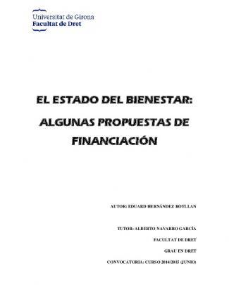 El Estado Del Bienestar: Algunas Propuestas De