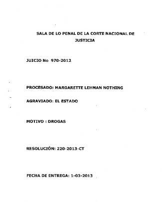 Sala De Lo Penal De La Corte Nacional De Justicia