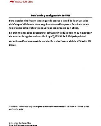 Instalación Y Configuración De Vpn Para Instalar El Software Cliente