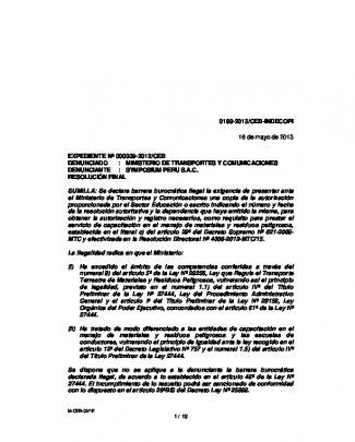 0189-2013/ceb-indecopi 16 De Mayo De 2013 Expediente Nº