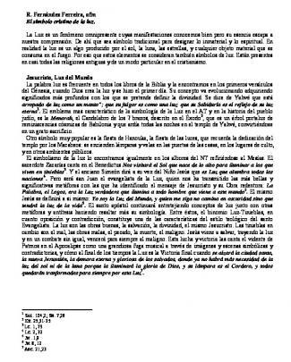 1 1 R. Fernández Ferreira, Ofm El Simbolo Cristino De La Luz. La Luz