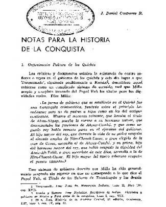 Notas Para La Historia De La Conquista | Autor