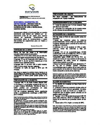 (detectabuse? ) Metodo Para El Analisis De Delta-9-thc
