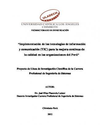 """""""implementación De Las Tecnologías De Información Y Comunicación"""