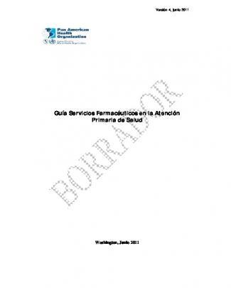 Guía Servicios Farmacéuticos En La Atención Primaria De Salud