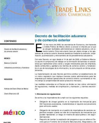 Decreto De Facilitación Aduanera Y De Comercio Exterior