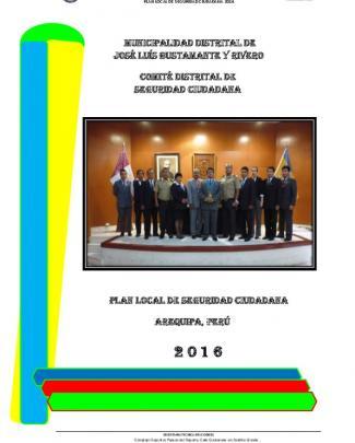 Plan Local De Seguridad Ciudadana 2016 Plan Local De Seguridad