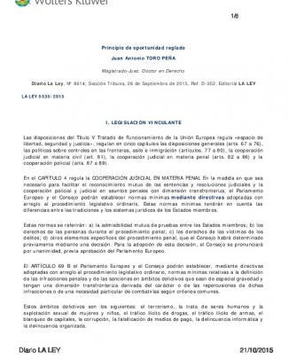 Diario La Ley, Núm. 8614, Sección Tribuna