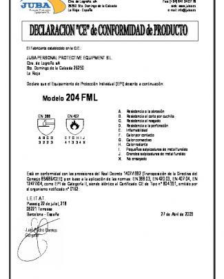 Declaración 204 Fml