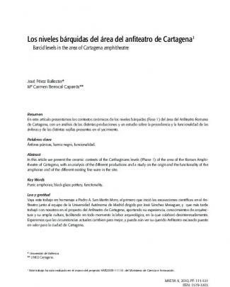 Los Niveles Bárquidas Del área Del Anfiteatro De Cartagena1