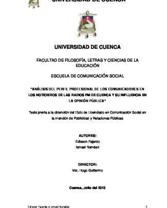 Repositorio Digital De La Universidad De Cuenca