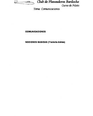 Comunicaciones - Club Planeadores Bariloche