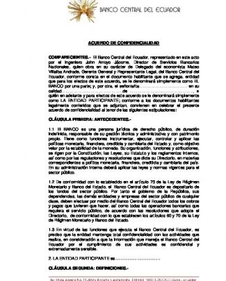 Acuerdo De Confidencialidad Comparecientes.