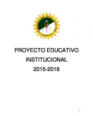 Proyecto Educativo Institucional 2015-2018