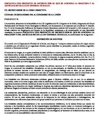 Iniciativa Con Proyecto De Decreto Por El Que Se Adiciona La Fraccion